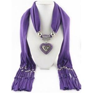 All match style love pendant scarf necklace purple aloadofball Gallery