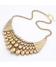 Vintage Copper Beads Fashion Chunky Necklace