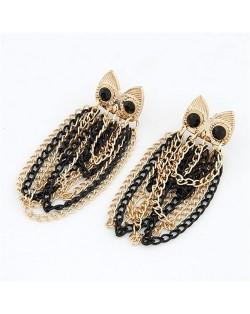 Elegant Tassels Fashion Night Owl Earrings