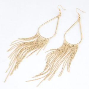 Fashion Tassel Earrings - Golden