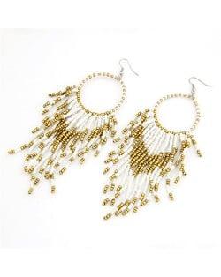 Bohemian Beads String Fashion Earrings - White