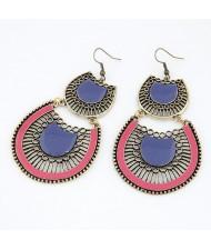 Western Fashion Hollow-out Fan-shaped Earrings