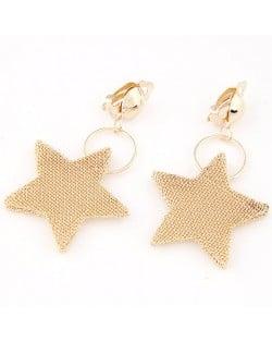 Bold Golden Stars Dangling Earrings