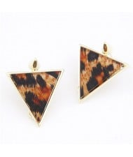 Abstract Leopard Prints Triangle Ear Studs