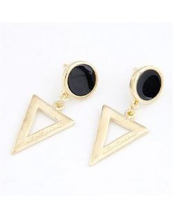 Korean Fashion Dangling Triangle Ear Studs