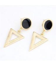 Korean Fashion Dangling Triangle Ear Studs