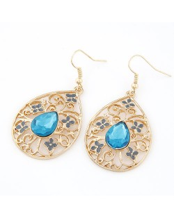 Hollow-out Water-drop Design Fashion Earrings