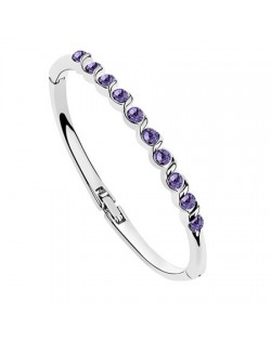 Purple Austrian Crystal Spiral Inlaid Bracelet