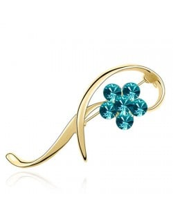 Golden Brooch - Aquamarine