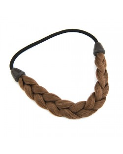 Weaving Wig Style Hair Band - Brown