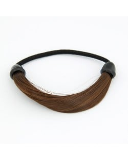 Fashion Wig Hair Band - Brown