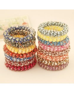 Korean Fashion Assorted Colors Handset Line Hair Band (One Piece) - Random Color