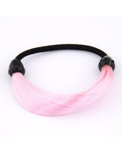 Fashion Fluorescent Color Style Wig Hair Band - Pink