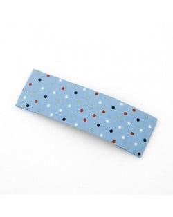 Korean Dots Fashion BB Hair Clip - Sky Blue