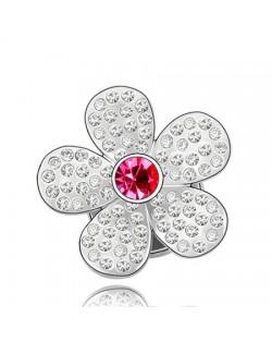 Jakaranda Austrian Crystal Brooch - Rose