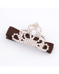 Korean Fashion Rhinestones Inlaid Crown Hair Clip