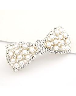 Luxurious Jewel Fashion Pearls Embedded Barrette