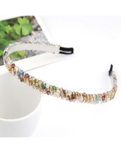 Korean Fashion Handmade Crystal Inlaid Hair Hoop - Multicolor