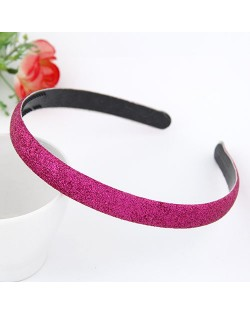 Korean Fashion Matting Grain Texture Hair Hoop - Rose