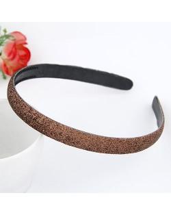 Korean Fashion Matting Grain Texture Hair Hoop - Brown