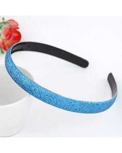 Korean Fashion Matting Grain Texture Hair Hoop - Blue