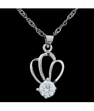 Crown Design Zircon Necklace