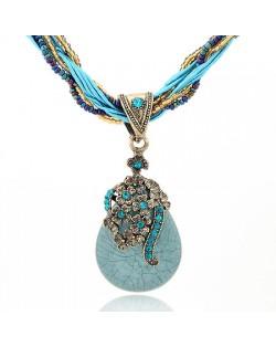 Necklace - Light Blue