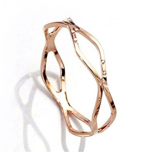 Elegant Slim Simple Design 18k Rose Gold Ring