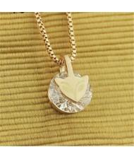 Zirconia Inlaid Fox Pendant Rose Gold Necklace