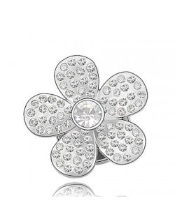 Jakaranda Austrian Crystal Brooch - Transparent
