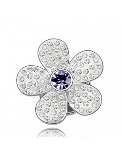 Jakaranda Austrian Crystal Brooch - Purple