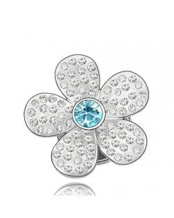 Jakaranda Austrian Crystal Brooch - Blue