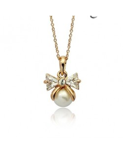 Good Fortune Six Balls Pendant Rose Gold Necklace