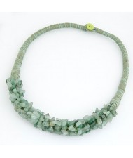 Bohemian Summer Style Stone Element Short Necklace - Green