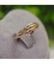 Elegant Triad Combo Rose Gold/ Platinum Plated Alloy Ring