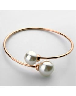 bangles high baby two bangle stones product with jewelry fashion finish pearl czech thin paved bracelet adorned rose pearls gold open women real gift quality