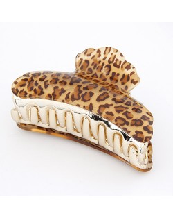 Popular Leopard Prints Hair Clip - Brown