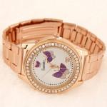 Happy Butterflies Fashion Golden Wrist Watch