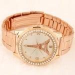 Eiffel Tower Theme Fashion Golden Wrist Watch