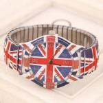 Doodle Fashion United Kingdom Flag Wrist Watch