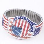 Doodle Fashion United States Flag Wrist Watch
