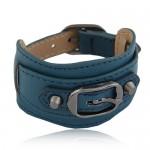 Belt Buckle Design Fashion Bracelet - Ink Blue