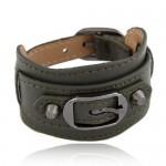 Belt Buckle Design Fashion Bracelet - Ink Green