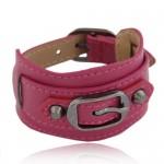 Belt Buckle Design Fashion Bracelet - Rose