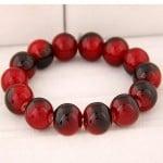 Korean Fashion Glass Beads Bracelet - Red