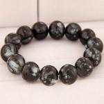 Korean Fashion Glass Beads Bracelet - Black