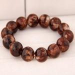 Korean Fashion Glass Beads Bracelet - Brown