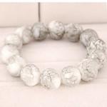Korean Fashion Glass Beads Bracelet - White