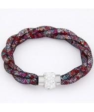 Western Popular Weaving Fashion Stardust Bracelet - Multicolor