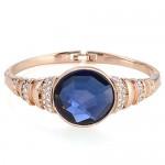 Rhinestone and Glass Embeded Office Lady Fashion Bracelet - Golden